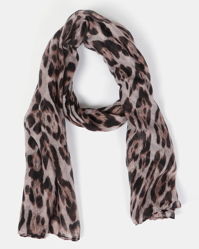 Joy Collectables Large Animal Print Scarf Natural