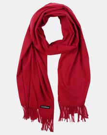 Joy Collectables Fringed Blanket Scarf Burgandy