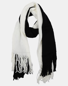 Joy Collectables ColourBlock Blanket Scarf Black/White