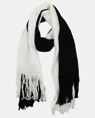 Joy Collectables ColourBlock Blanket Scarf Black/White