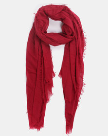 Joy Collectables Plain Blanket Scarf Burgandy