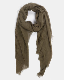 Joy Collectables Plain Blanket Scarf Khaki
