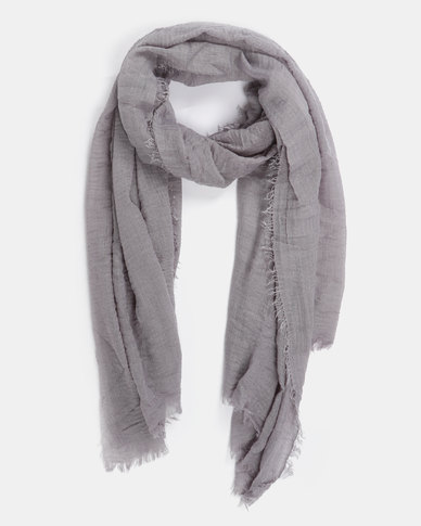 Joy Collectables Plain Blanket Scarf Grey
