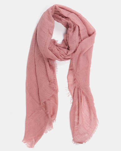 Joy Collectables Plain Blanket Scarf Dusty Pink