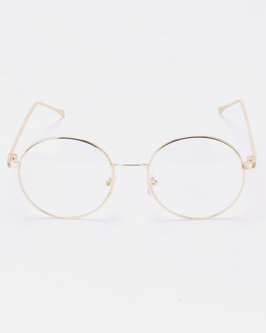 Joy Collectables Clear Lense Glasses Gold
