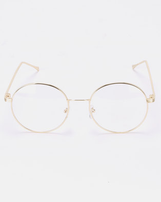 93bccd5f252 Joy Collectables Clear Lense Glasses Gold
