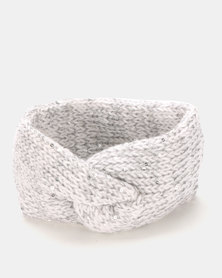 Joy Collectables Twist Knit Head Band Grey