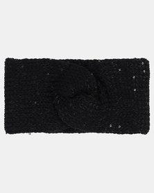 Joy Collectables Twist Knitt Head Band Black