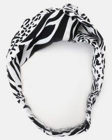 Joy Collectables Animal Print Head Band White
