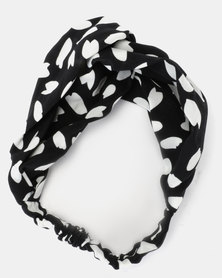 Joy Collectables Animal Print Head Band Black and White