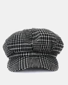 Joy Collectables Check Baker Boy Hat Grey