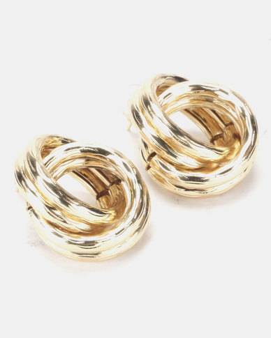 Joy Collectables Twist Stud Earrings Gold