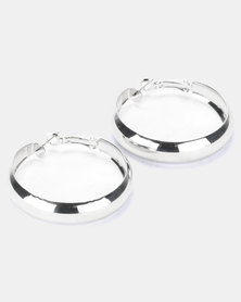 Joy Collectables Thick Hoop Earrings Silver