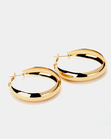 Joy Collectables Big Thick Hoop Earrings Gold