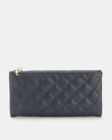 Joy Collectables Quilted Wallet Navy