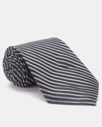 Joy Collectables Striped Tie Black