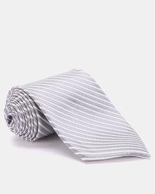 Joy Collectables Striped Tie Grey