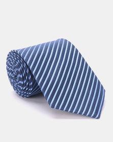 Joy Collectables Thin Stripe Tie Blue