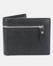 Joy Collectables Zipped PU Wallet Black