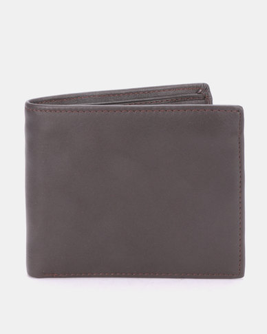 Joy Collectables Classic Faux Leather Wallet Brown