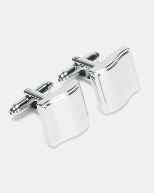 Joy Collectables Square Cufflinks Silver-Toned