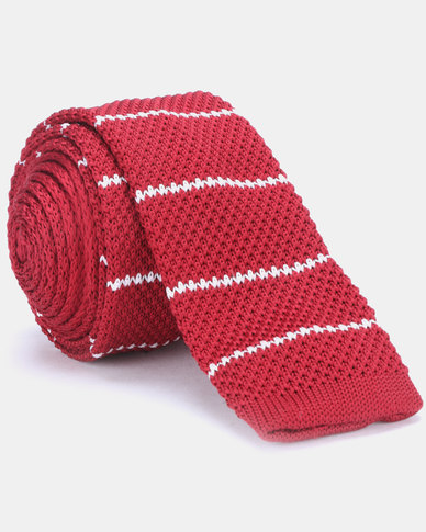 Joy Collectables Striped Tie Red