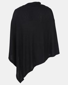 Cherry Melon Multi Purpose Poncho Black