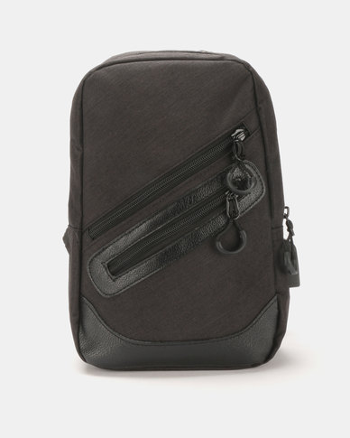 Joy Collectables Mens Cross Body Bag Black
