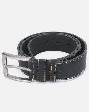 2596b4e5e Joy Collectables Stitched PU Belt Black