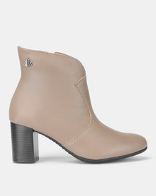 Froggie Asia Ankle Boots Stone