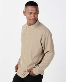 Utopia Stone Long Sleeve Polo Tee