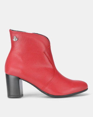 fd27903385f2 Froggie Asia Ankle Boots Red