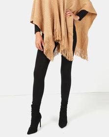 New Look Black High Waist Cotton Blend Leggings