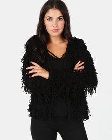 New Look Black Loop Knit Cardigan