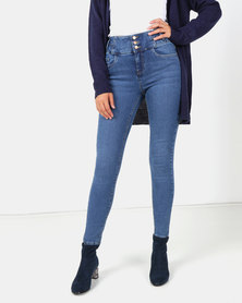 New Look Mid Blue High Waist Skinny Yazmin Jeans