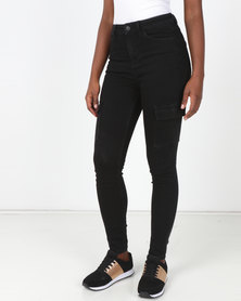New Look Black Cargo Pocket Skinny Jenna Jeans
