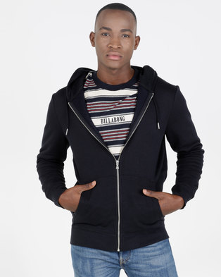 New Look Zip Through Hoodie Navy