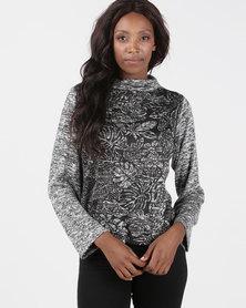 Maya Prass Camilla Box-Sleeve Pullover Black