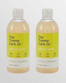 Intimate Wash Tea Tree + Lemongrass - 2 x 300ml Pack