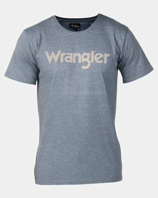 Wrangler Kabel T-Shirt Blue Mirage