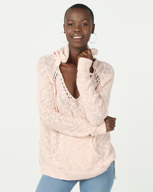 Roxy Airport Vibes Sweater Cloud Pink
