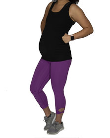 Fit Mama Uber comfort Yoga 3/4 Legging Purple