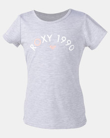 Roxy Girls Roses In The Rain Top Grey