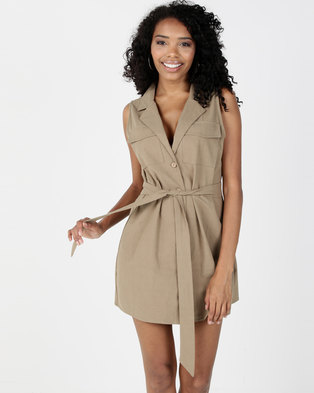 28cf882863001 I Am Woman Rachel Dress Khaki