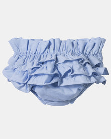Razberry Kids Soft Denim Frilly Bloomers, Chambre Blue