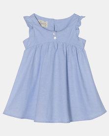 Razberry Kids Baby Girls Sun Dress Chambre Blue