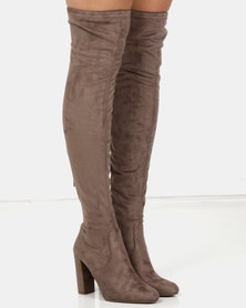 Steve Madden Emotions Boots Taupe