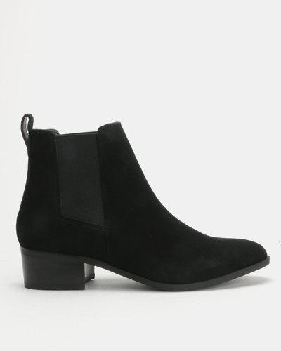 a488dbf12c2 New Look Eastwood Genuine Suede Western Boots Black | Zando
