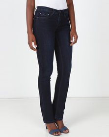 Sissy Boy Jon Jon Low-Rise Bootleg Jeans Blue Black