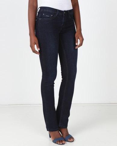 Sissy Boy Jon Jon Low-Rise Bootleg Jeans Blue Black